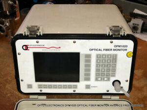 Opto Electronics Ofm1020 Optical Fiber Monitor Avionics Free Shipping
