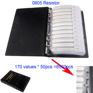 8500pcs 170 Value 0805 Smd Resistor Assortment Kit 1 8w 5 Sample Book