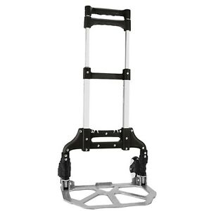 Black 40 Aluminum Folding Hand Truck Trolley Rolling Cart Holds Up To 150 Lbs