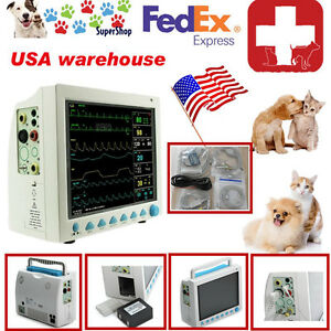 Us Seller Vet Veterinary Patient Monitor 6 Parameter ecg nibp pr spo2 temp resp