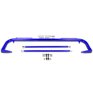 49 Coated Steel Racing Safety Seat Belt Chassis Roll Harness Bar tie Rod Blue