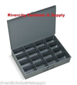 2 Storage Compartment Tray s For Nuts Bolts Washers One 16 Hole