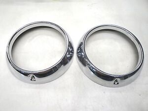 51 1951 Ford Car Chrome Outer Headlight Door Ring New