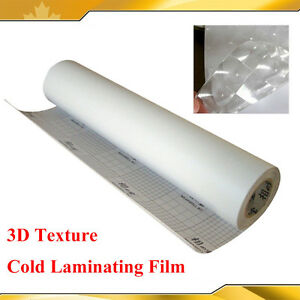 Brand New Cold Laminating Film For Laminator 3d Texture Cat Eye 0 69x21yard 3mil