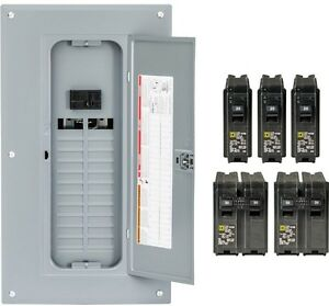 Square D New 100amp Main Breaker Box Indoor Electrical 24 Space 48 Circuit Panel