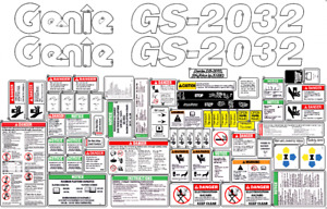 Genie Gs 2032 Scissor complete Decal Kit Sn Prior To 51682