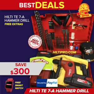 Hilti Te 7 a Mint Condition Free Smart Watch Bits A Lot Of Extras Fast Ship