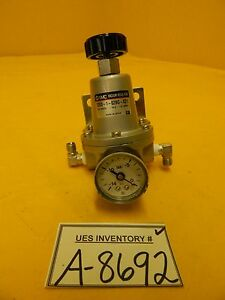 Smc T203 1 02bg x21 Manual Vacuum Regulator Used Working