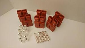 6 Charger Plugs contacts 0awg Anderson Sb175a 600v Forklifts Boats 4x4