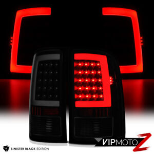 For 07 13 Gmc Sierra 1500 2500 3500 sinister Black Smoke Led Tail Light Lamp
