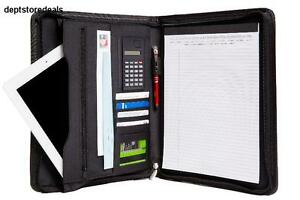 Genuine Bonded Leather Zippered Business Portfolio W A Notepad