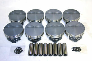 Chevy 350 383 4 030 Ch 1 125 2618 Preminum Srs Forged Piston W ceramic Coating