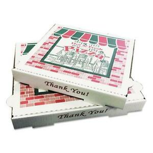 Pizza Box Takeout Containers 14in Pizza White 14w X 14d X 2 1 2h 50 bundle