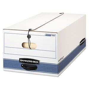 Bankers Box Stor file Storage Box Legal String And Button White blue
