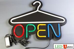 Ledupdates Laundromat Dry Cleaner Neon Led Open Sign Laundry On off Switch Ul