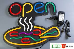 Ledupdates Pizza Led Open Sign 22x19 On off Switch Ul Neon Alternative