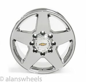 Chevy Silverado Hd 2500 3500 8 Lug 8x6 5 20 Chrome Wheels Rims Suburban 5503