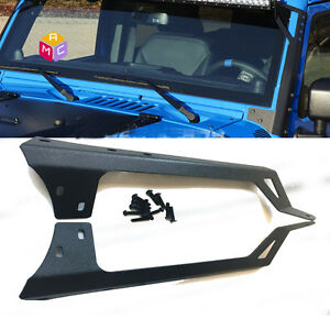 Steel Front Mount Bracket For 50 Led Light Bar 07 16 Jeep Wrangler Unlimited Jk