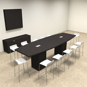 Boat Shape Counter Height 12 Feet Conference Table of con ct12