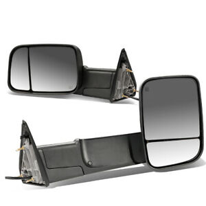 Fit 09 16 Dodge Ram 1500 3500 Truck Power Heated Rear View Towing Mirror Pair