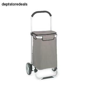 Foldable Tote Cart Shopping Trolley Folding Grocery Rolling Luggage Dolly Frame