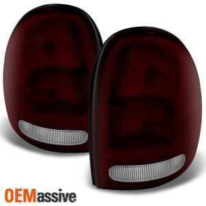 Fit 96 03 Dodge Caravan Durango Plymouth Voyager Dark Red Taillights Replacement