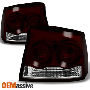 Fit 09 10 Dodge Charger Dark Red Rear Tail Lights Replacement