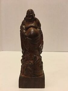 Antique Chinese Hand Carved Wood Buddha With Children