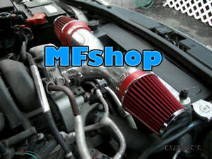 Red For Dual 2005 2010 Jeep Grand Cherokee 5 7l 6 1l V8 Twin Air Intake System
