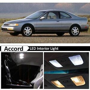 White Led Interior License Plate Lights Package Kit Fits 1994 1997 Honda Accord