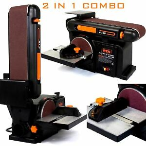 Belt Disc Sander Kit Combination Ironbase Bench Top Polisher Woodworking Grinder