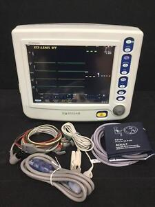 Criticare Ncompass 8100h Patient Monitor With Ecg nibp printer t biomed Tested