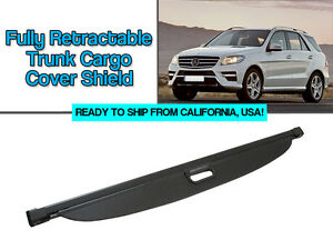 Retractable Black Trunk Cargo Cover Shield For 2012 2014 Mbz W166 M Ml Class