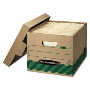 Bankers Box Stor file Extra Strength Storage Box Letter legal Kraft green