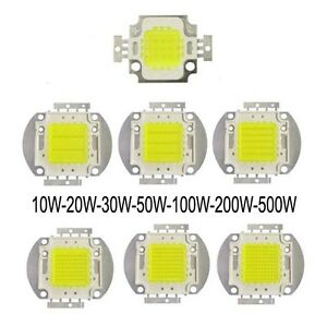 1pc 10w 20w 30w 50w 100w 500w Cool White 8000k 12000k Led Diode High Power Light