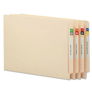 Smead Monthly End Tab File Folder Labels Assorted Colors 250 Per Month