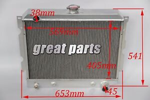 New 3 Row Aluminum Radiator Fit 68 74 B body Charger coronet satellite