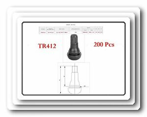 Lot200 Tr412 Tire Valve Stems Snap in Rim Hole Dia Inch 0 453 Length 7 8 22mm