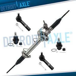 5pc Power Steering Rack And Pinion 2 Lower Ball Joint Inner