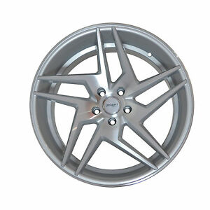 4 Gwg Wheels 20 Inch Staggered Silver Razor Rims Fits Ford Mustang 2005 2014