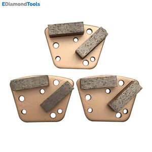 Trapezoid Htc Grinding Discs For Bolt On Grinders 30 40 Soft Bond Set Of 3