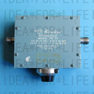 Used Good Narda 792ff 2 12 4ghz 20db 10w Broadband N Adjustable Attenuator