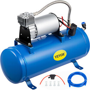 Air Compressor With 6 Liter Tank 120 Psi Dc 12v For Train Horns Air Horn