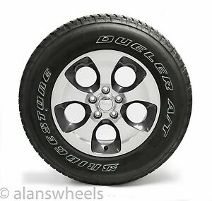 1 New Jeep Wrangler Sahara 18 Factory Granite Machined Wheel Rim Tire 9119