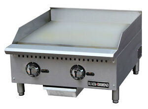 24 Commercial Thermostatic Control Gas Griddle Nat Or Lp Gas Countertop Grill