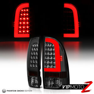 For 05 15 Toyota Tacoma Pickup Truck Pair Smoke Tinted Led Neon Tube Tail Light