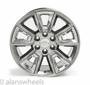 4 New Chevy Suburban Tahoe 20 Silver Chrome Wheels Rims Free Ship 5696