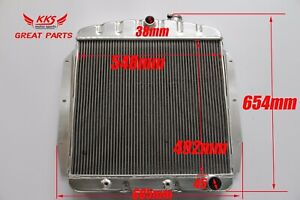 3 Rows Aluminum Radiator Fit Chevy gmc Truck Pickup 1955 56 57 58 1959