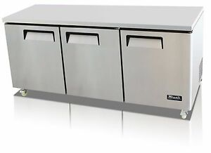 Migali C u72r Commercial Three Door Undercounter Refrigerator