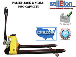 Pallet Jack With Built In Scale 5 000 Lbs Industrial Warehouse Shipping
